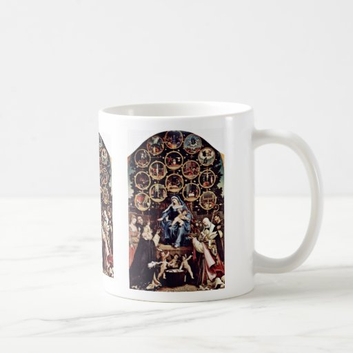 Madonna Of The Rosary By Lotto Lorenzo (Best Quali Classic White Coffee Mug