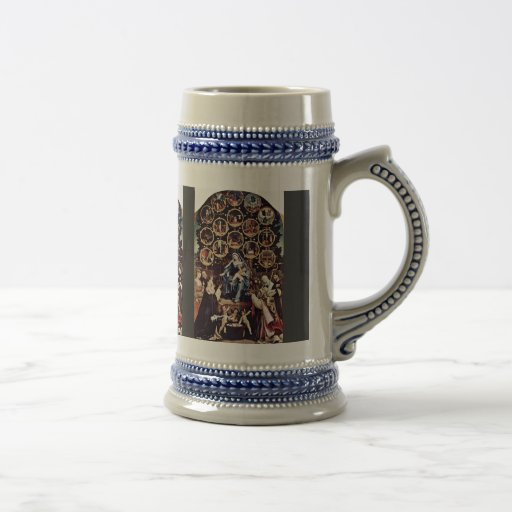 Madonna Of The Rosary By Lotto Lorenzo (Best Quali Mug