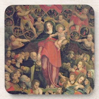 Madonna of the Rosary, c.1569 (oil on canvas) Beverage Coaster