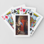 Madonna of the Rosary (oil on canvas) Bicycle Playing Cards