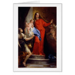 Madonna of the Rosary (oil on canvas) Card