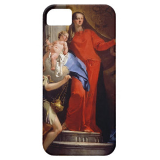 Madonna of the Rosary (oil on canvas) iPhone SE/5/5s Case