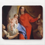Madonna of the Rosary (oil on canvas) Mouse Pad