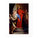 Madonna of the Rosary (oil on canvas) Postcard