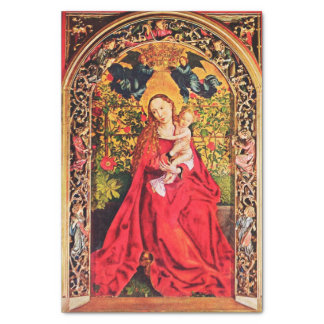 """MADONNA OF THE ROSE BOWER 10"""" X 15"""" TISSUE PAPER"""