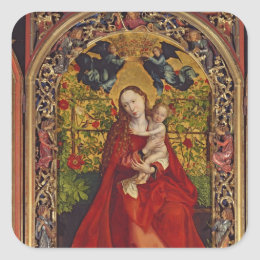 Madonna of the Rose Bower, 1473 Square Sticker