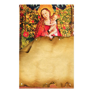 MADONNA OF THE ROSE BOWER ANTIQUE PARCHMENT STATIONERY