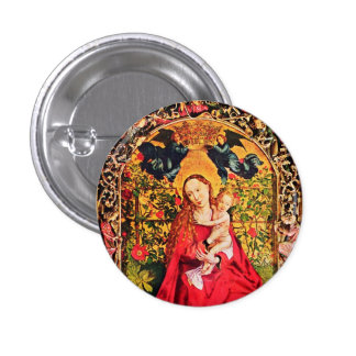 MADONNA OF THE ROSE BOWER BUTTON