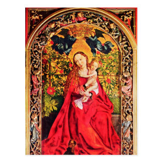 MADONNA OF THE ROSE BOWER PARCHMENT POSTCARD