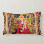 MADONNA OF THE ROSE BOWER PILLOW
