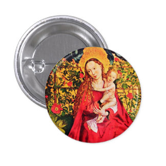MADONNA OF THE ROSE BOWER PINBACK BUTTON