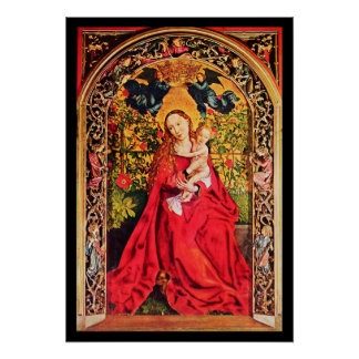 MADONNA OF THE ROSE BOWER POSTER