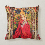 MADONNA OF THE ROSE BOWER THROW PILLOWS