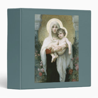 Madonna of the Roses 3 Ring Binder