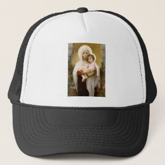 Madonna of the Roses and Infant Child Jesus Trucker Hat