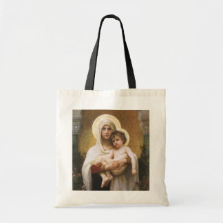 Madonna of the Roses, Bouguereau, Vintage Realism Tote Bags
