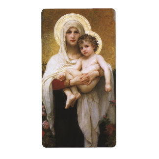 Madonna of the Roses, Bouguereau, Vintage Realism Shipping Label