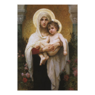 Madonna of the Roses Bouguereau Vintage Realism Posters