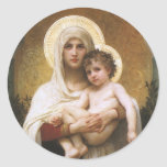 Madonna of the Roses, Bouguereau, Vintage Realism Sticker