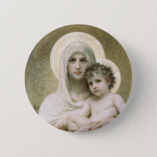 Madonna of the Roses Button