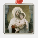 Madonna of the Roses Christmas Ornaments