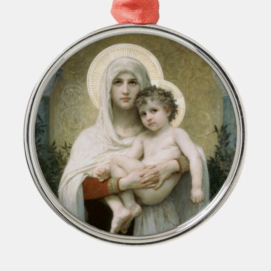 Madonna of the Roses Metal Ornament