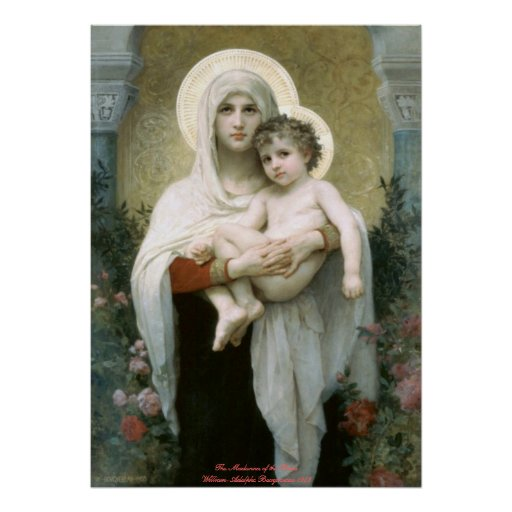 Madonna of the Roses - William-Adolphe Bouguereau Print