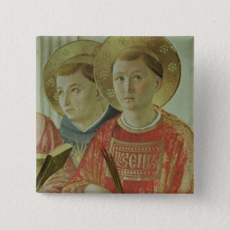 Madonna of the Shadow, detail of St. Thomas Pinback Button