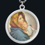 "Madonna of the Streets Holy Mary Madonnina Silver Plated Necklace<br><div class=""desc"">Madonna of the Streets Holy Mary Blessed Virgin - art prints on various materials. A great gift idea to brighten up your home. Also buy this artwork on phone cases, apparel, mugs, pillows and more. Poster and Art Print on clothing and for your wall – various backgrounds – great print...</div>"