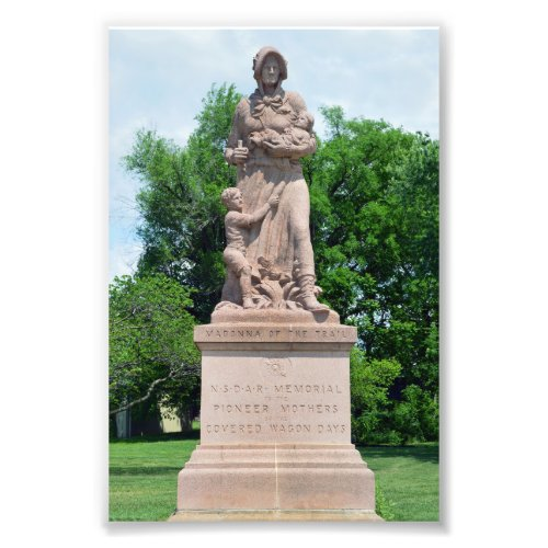 Madonna of the Trail, Council Grove, Kansas Photo Print