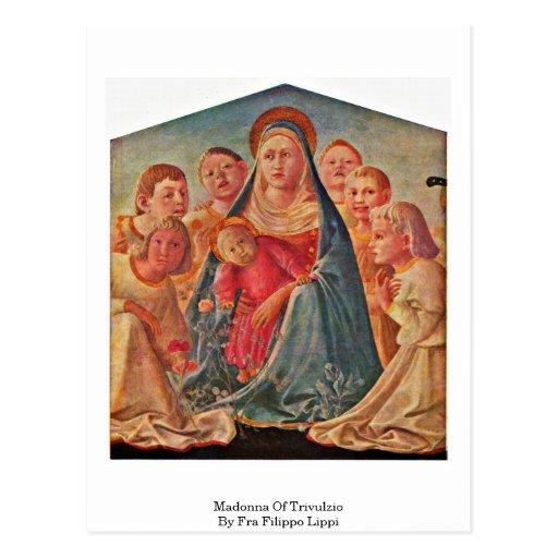 Madonna Of Trivulzio By Fra Filippo Lippi Postcards