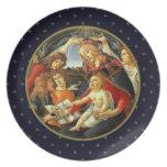 Madonna por Botticelli. Placas del regalo del navi Plato