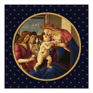 Madonna por Botticelli. Tarjetas de Navidad Invitación 13,3 Cm X 13,3cm