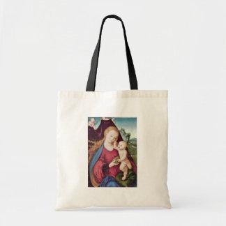 Madonna por Cranach D. Ä. Lucas (la mejor calidad) Bolsas De Mano