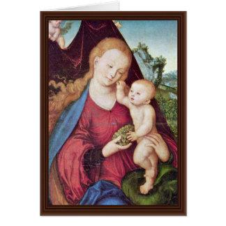 Madonna por Cranach D. Ä. Lucas (la mejor calidad) Felicitacion