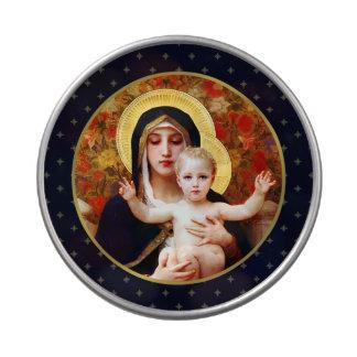 Madonna por el caramelo del navidad del regalo de jarrones de caramelos