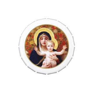 Madonna por las latas de la broche del recorte del frascos de caramelos