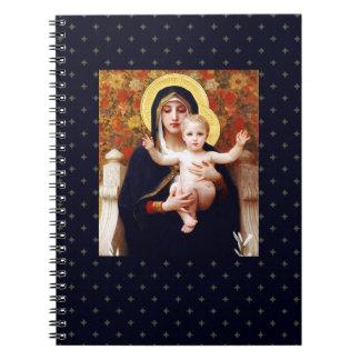Madonna por W.Bouguereau, cuaderno del regalo del