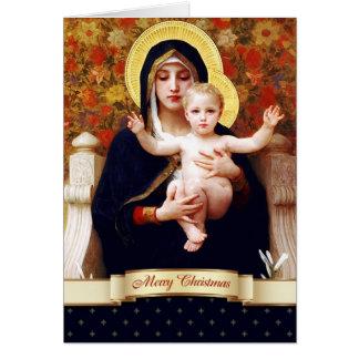 Madonna por W.Bouguereau. Tarjeta de Navidad de la
