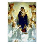 Madonna por W.Bouguereau. Tarjetas de Navidad de l