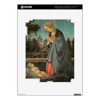 Madonna que adora al niño, c.1477-80 (aceite en p pegatinas skins para iPad 3