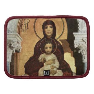 Madonna que detiene al bebé Jesús en el trono Planificadores
