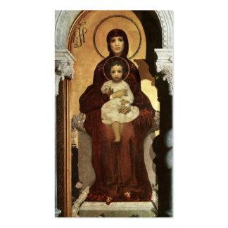 Madonna que detiene al bebé Jesús en el trono