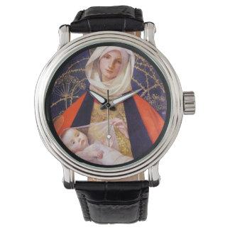 Madonna que detiene al niño relojes de pulsera