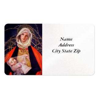 Madonna que detiene al niño tarjetas de visita