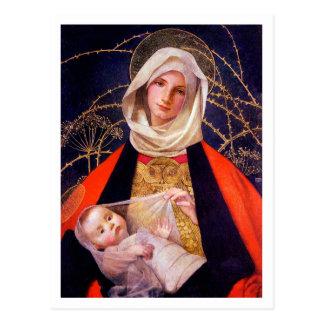 Madonna que detiene al niño tarjetas postales