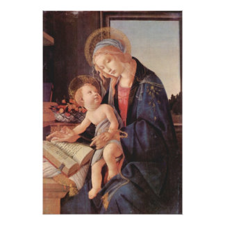 Madonna teaches the child Jesus Posters