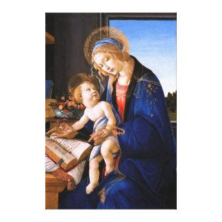Madonna teaches the child Jesus Sandro Botticelli Canvas Print