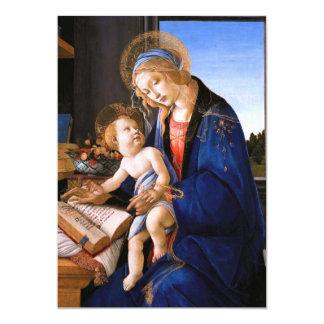 Madonna teaches the child Jesus Sandro Botticelli Card
