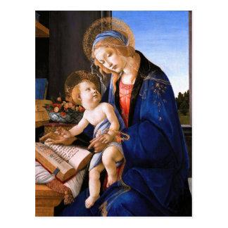 Madonna teaches the child Jesus Sandro Botticelli Postcard